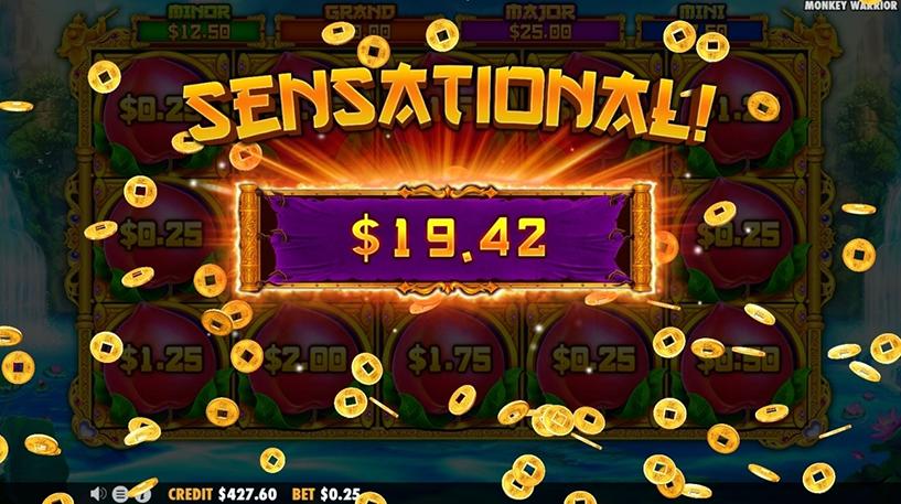 Monkey Warrior Slot Screenshot 2