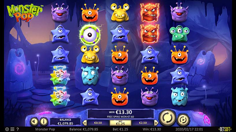 Monster Pop Slot Screenshot 1