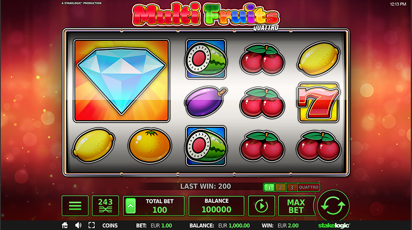 Multi Fruits Quattro Slot Screenshot 1