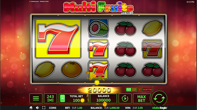 Multi Fruits Quattro Slot Screenshot 3