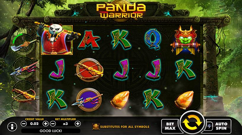 Panda Warrior Slot Screenshot 1