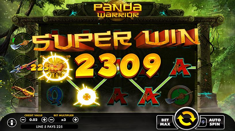 Panda Warrior Slot Screenshot 2