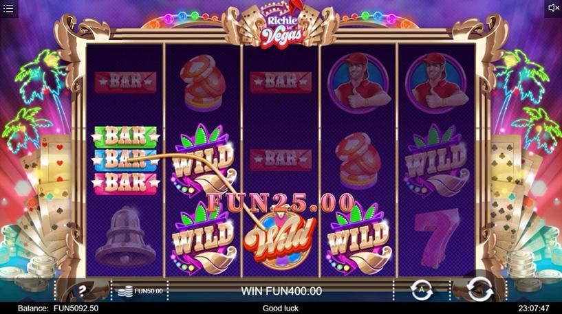 Richie in Vegas Slot Screenshot 2