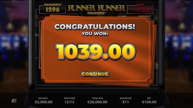 Runner Runner Megaways Screenshot 2