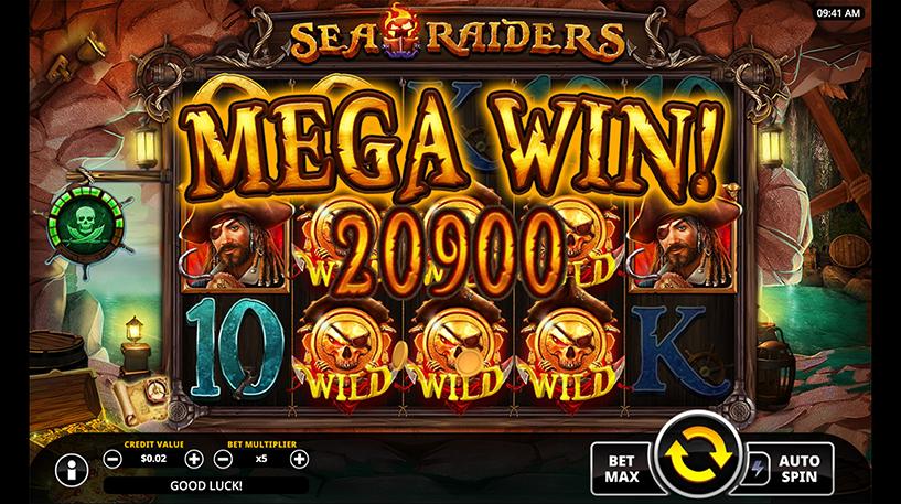 Sea Raiders Slot Screenshot 2