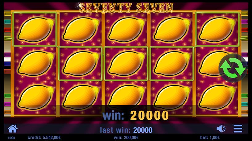 Seventy Seven Slot Screenshot 1