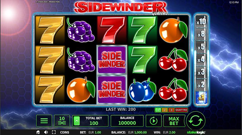 Sidewinder Quattro Slot Screenshot 3