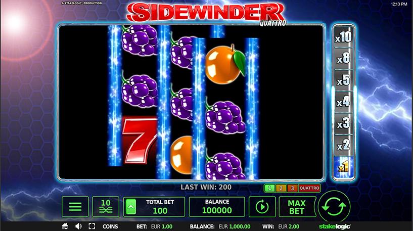 Sidewinder Quattro Slot Screenshot 2