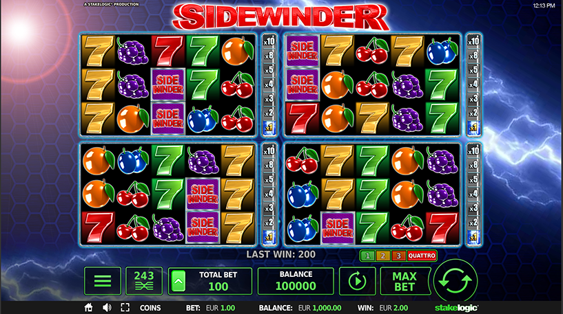 Sidewinder Quattro Slot Screenshot 1