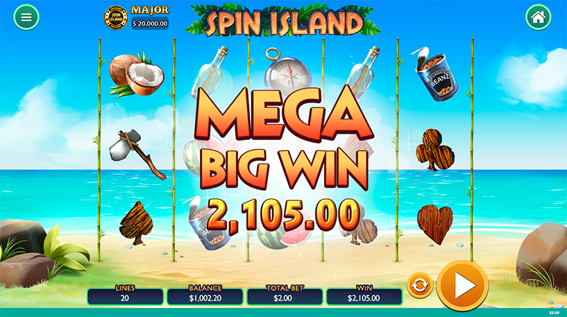 Spin Island Slot Screenshot 2