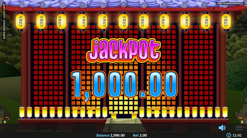 Super Graphics Lucky Cats Slot Screenshot 2