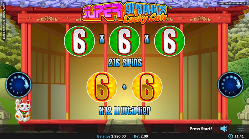 Super Graphics Lucky Cats Slot Screenshot 3
