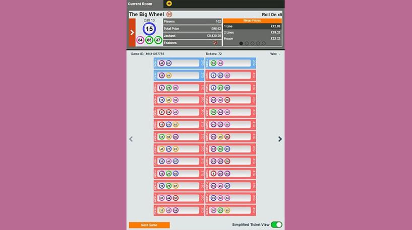 The Big Wheel Bingo Screenshot 2