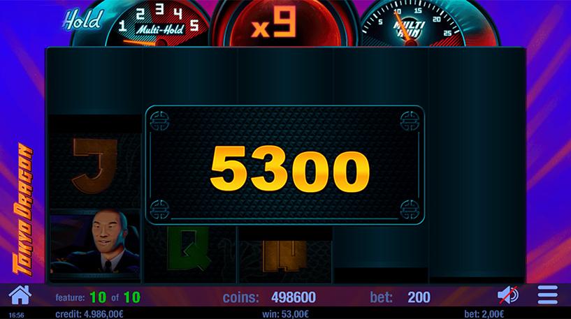 Tokyo Dragon Slot Screenshot 2