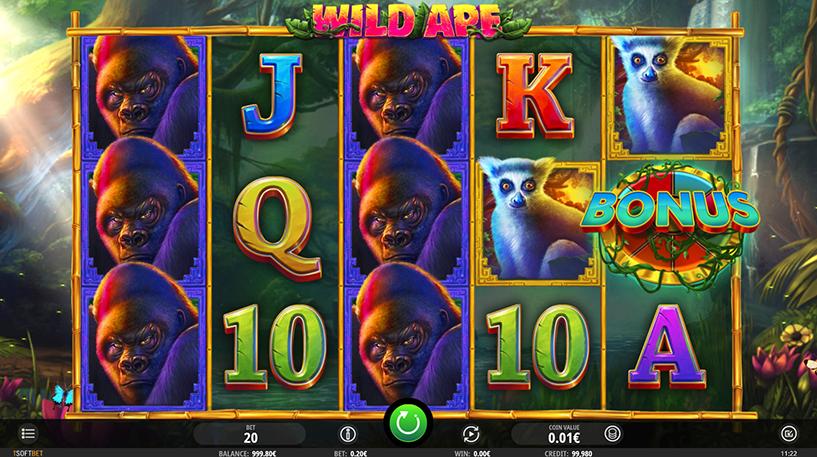 Wild Ape Slot Screenshot 1