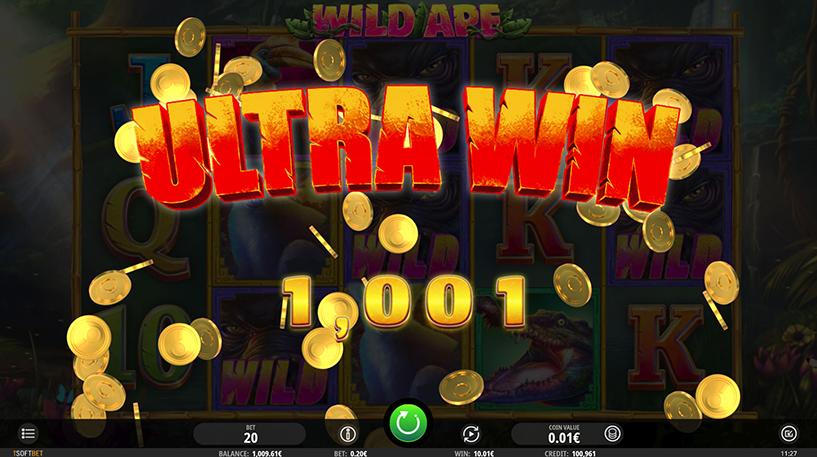 Wild Ape Slot Screenshot 3