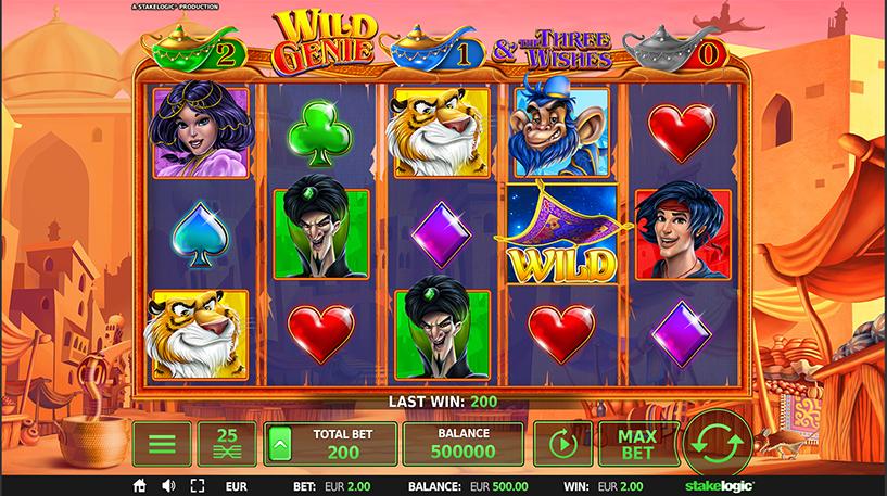 Wild Genie and the Three Wishes Slot Screenshot 1