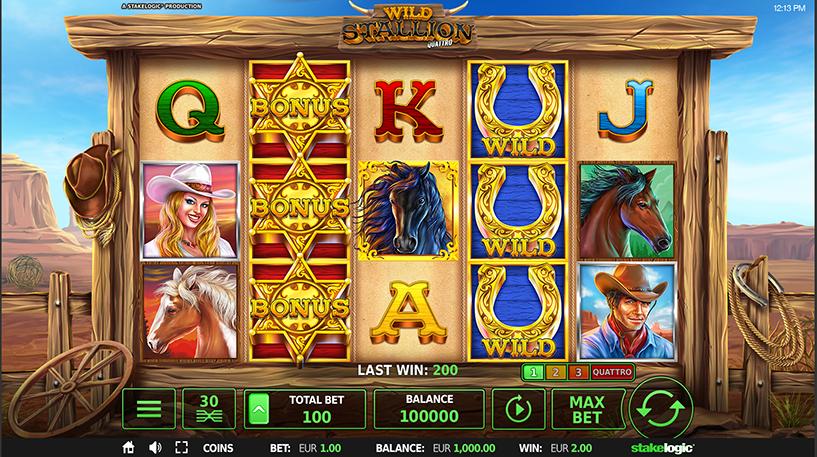 Wild Stallion Quattro Slot Screenshot 1