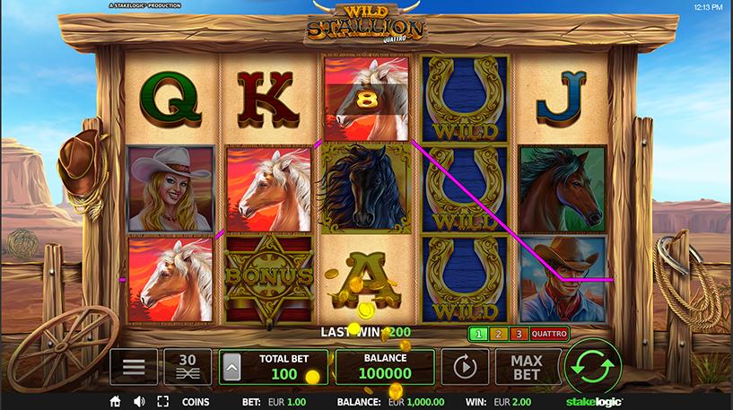 Wild Stallion Quattro Slot Screenshot 2