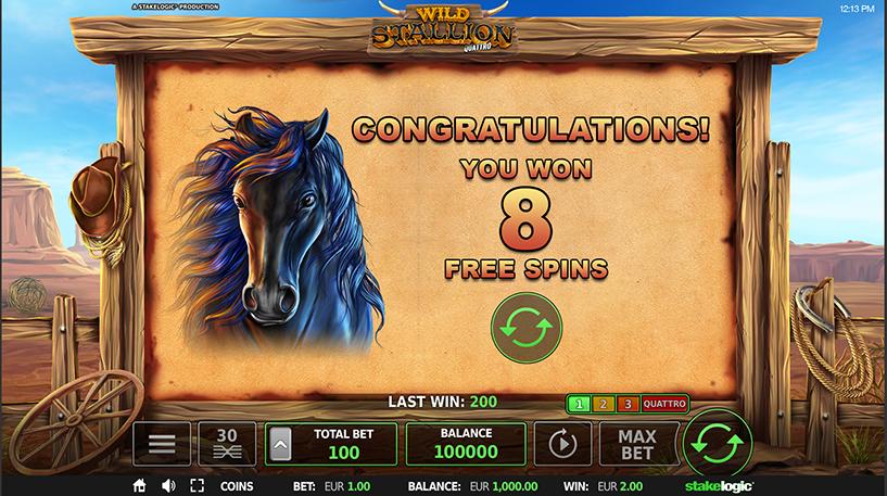 Wild Stallion Quattro Slot Screenshot 3