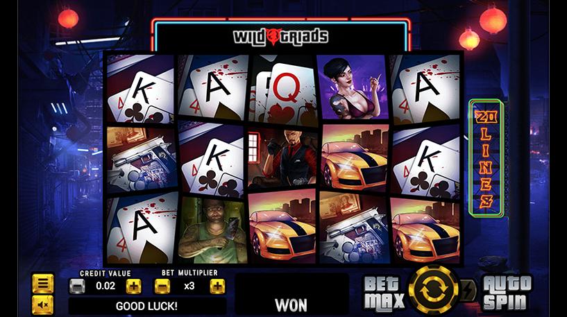 Wild Triads Slot Screenshot 1