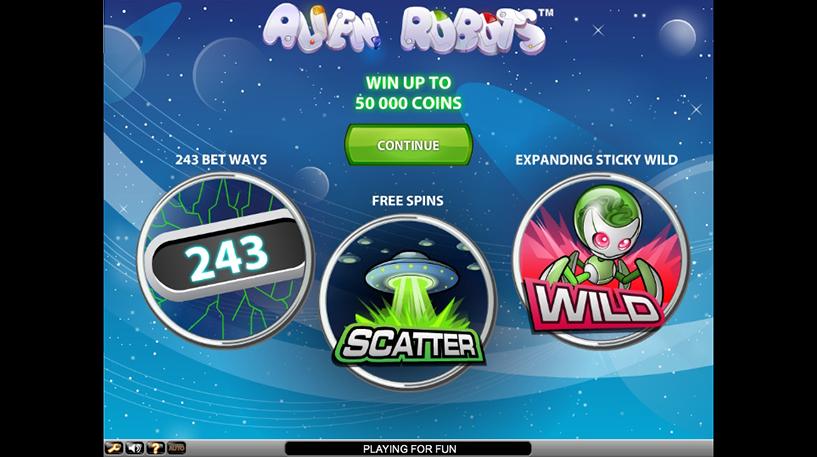 Alien Robots Slot Screenshot 1