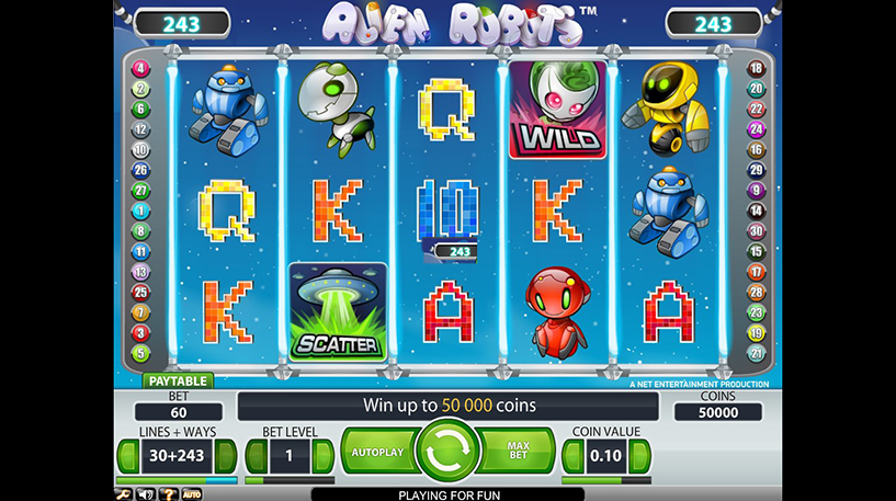 Alien Robots Slot Screenshot 3