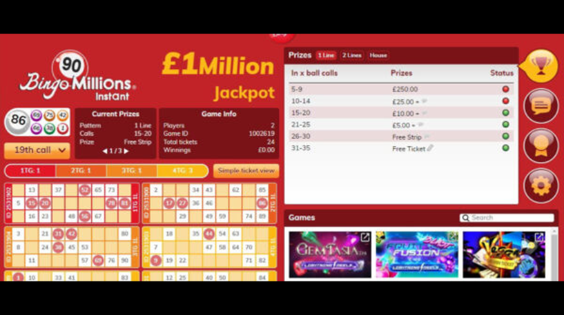 Bingo Millions 90 Ball Instant Screenshot 2