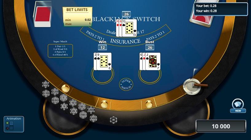 Blackjack Switch Screenshot 1