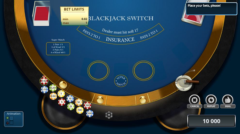 Blackjack Switch Screenshot 2
