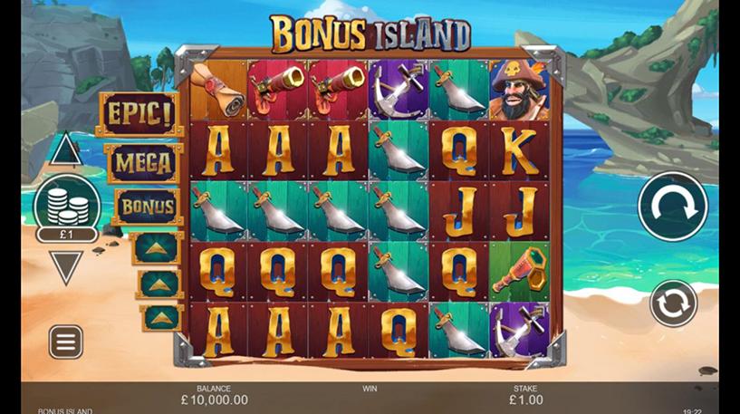 Bonus Island Slot Screenshot 1