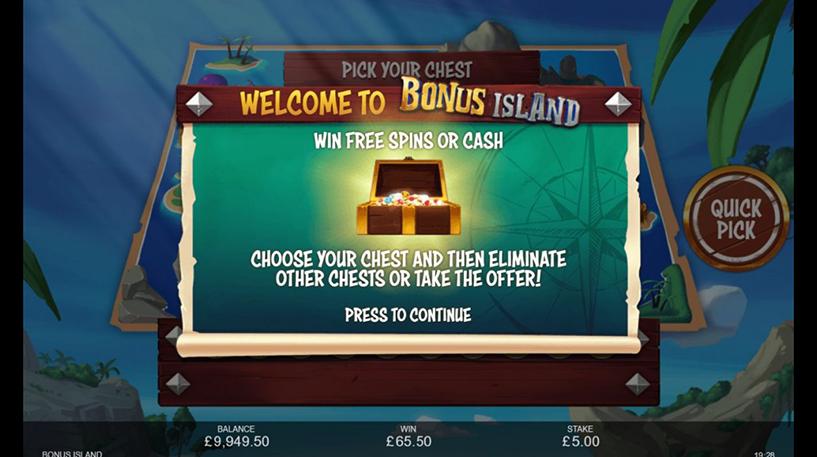 Bonus Island Slot Screenshot 2