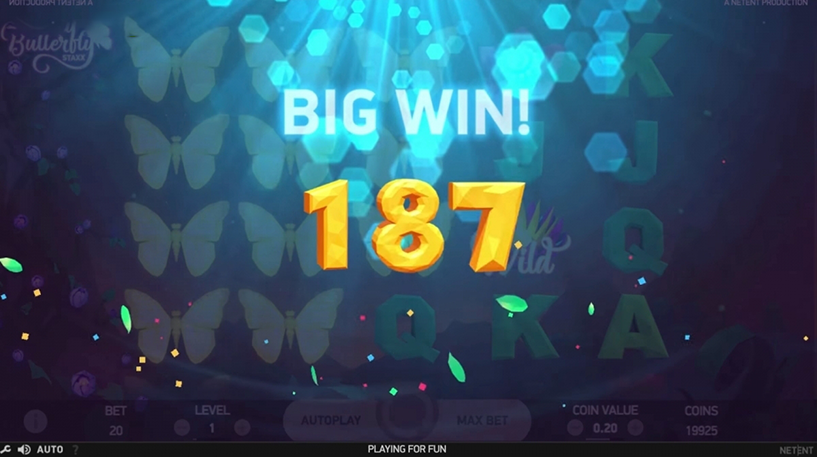 Butterfly Staxx Slot Screenshot 3