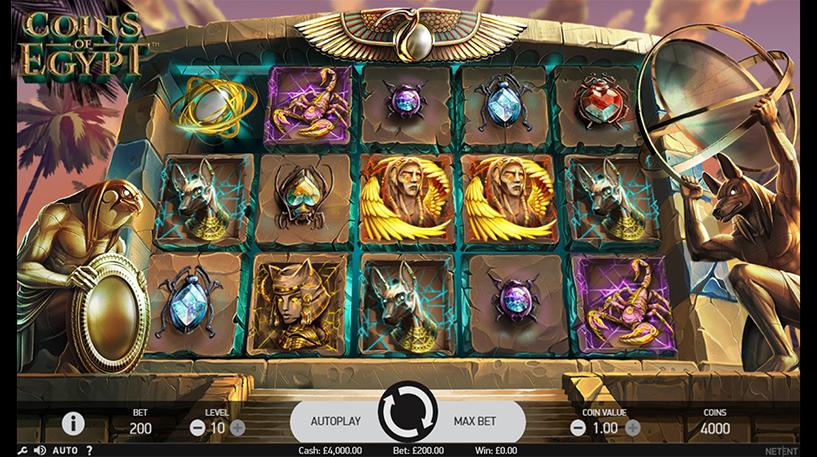 Coins Of Egypt Slot Screenshot 1