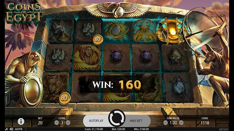 Coins Of Egypt Slot Screenshot 2