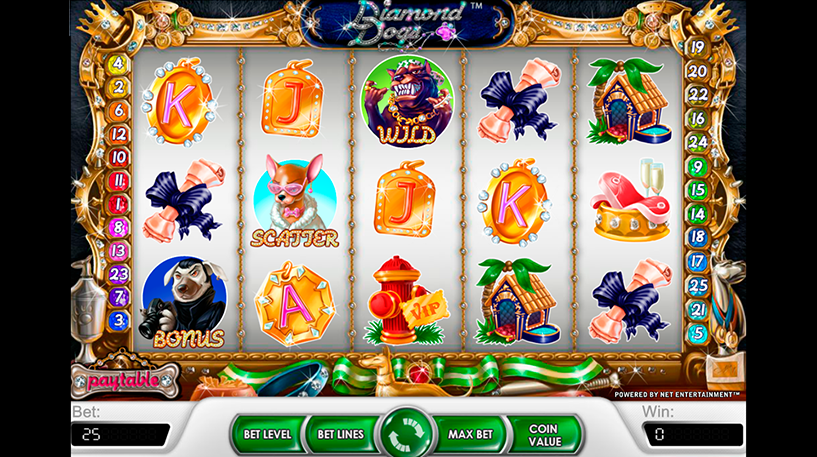 Diamond Dogs Slot Screenshot 2