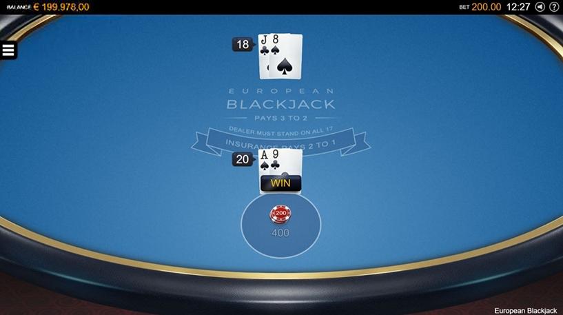 European Blackjack Screenshot 1