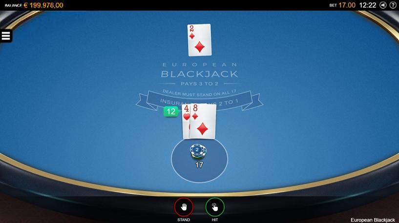 European Blackjack Screenshot 2
