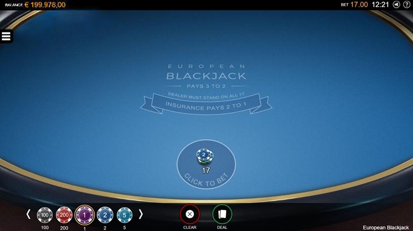 European Blackjack Screenshot 3