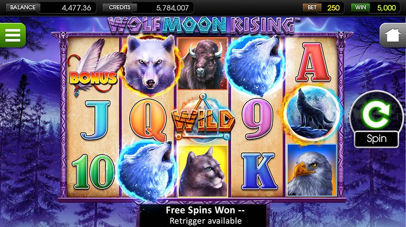 Wolf Moon Rising Slot Screenshot 2