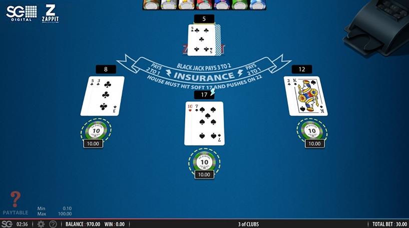 Zappit Blackjack Screenshot 1