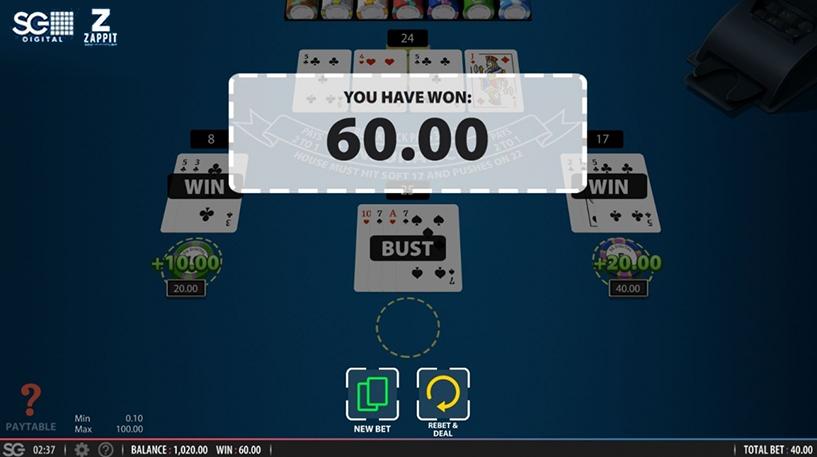 Zappit Blackjack Screenshot 3