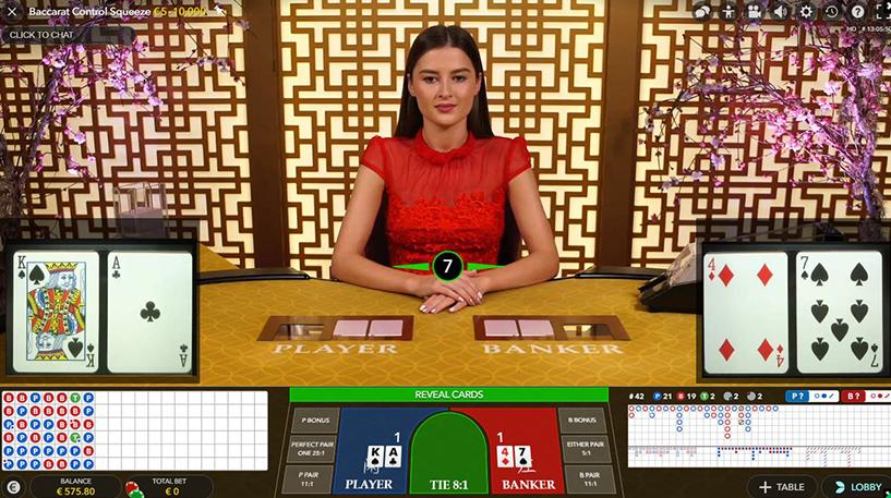 Baccarat Control Squeeze Screenshot 3