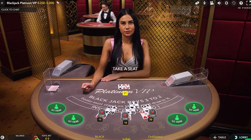 Blackjack Platinum VIP Screenshot 1