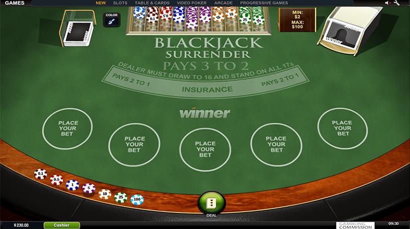 Blackjack Surrender Screenshot 1