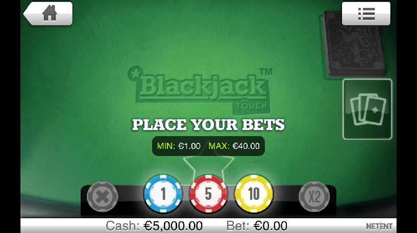 Blackjack Touch Single Deck Screenshot 3