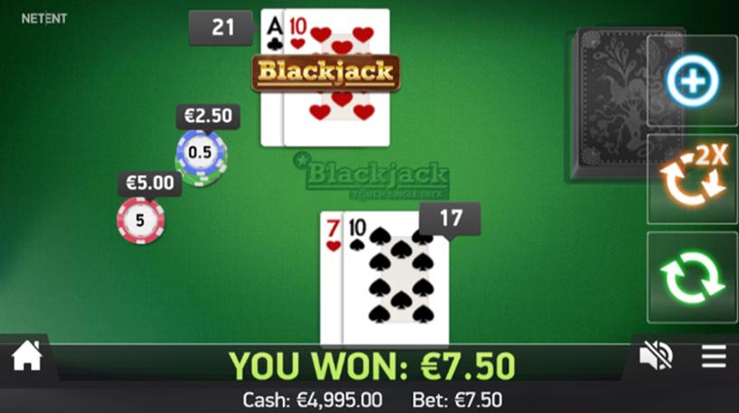 Blackjack Touch Single Deck Screenshot 1