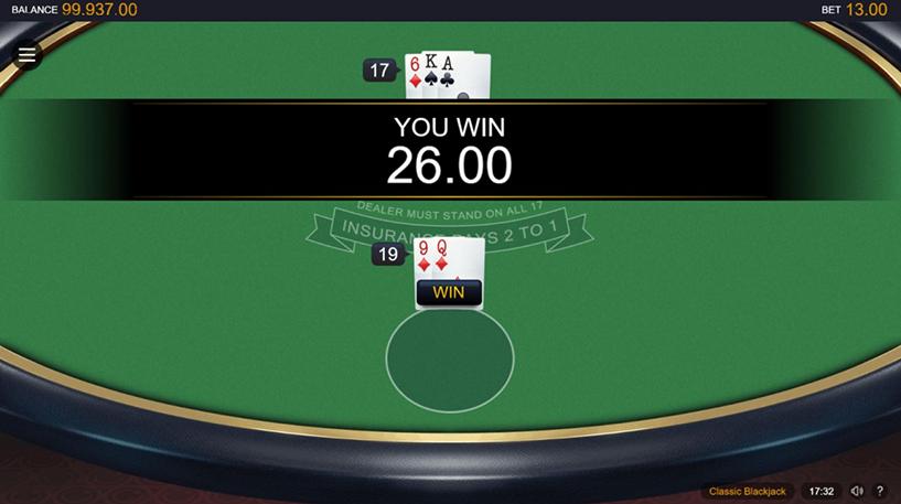 Classic Blackjack Screenshot 1
