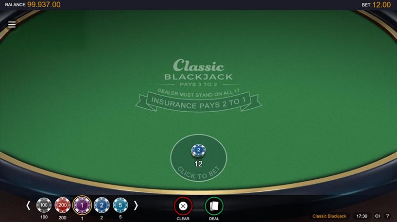 Classic Blackjack Screenshot 3