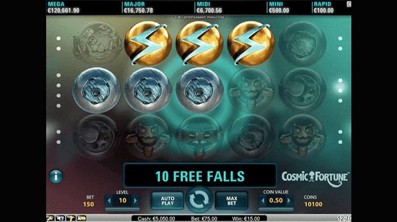 Cosmic Fortune Slot Screenshot 3